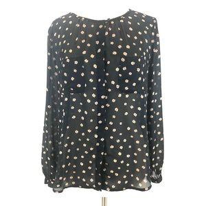 NWOT Loft floral blouse L